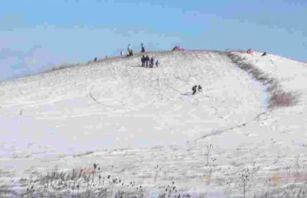 Sledding hill in Jerusalem Township