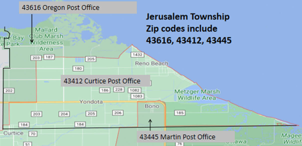 Jerusalem Township zip codes
