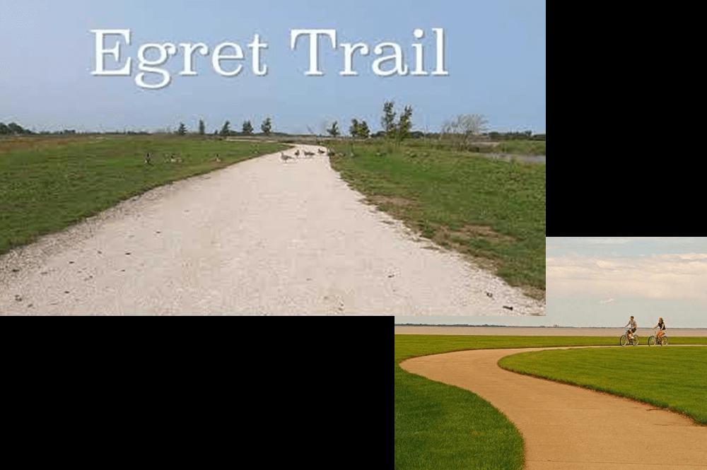 Hiking, bicycling, and walking
